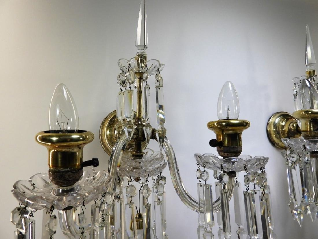 PR Beautiful Brass & Crystal Sconce Lights - 5