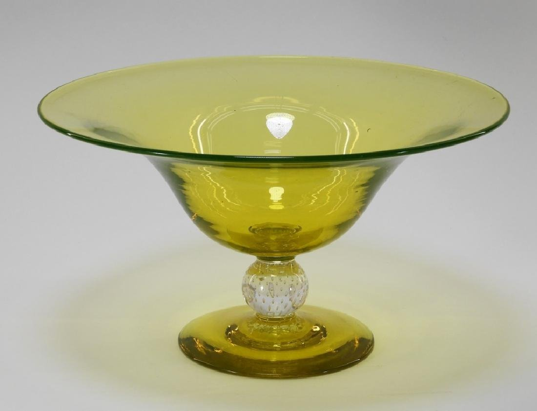 Pairpoint Canaria Controlled Bubble Glass Compote