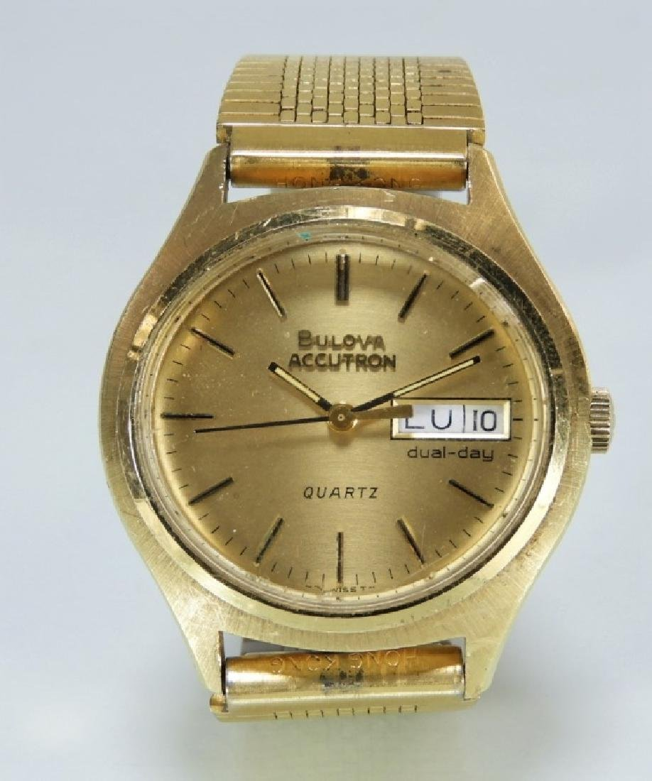 14 Karat Gold Bulova Accutron Men's Quartz Watch