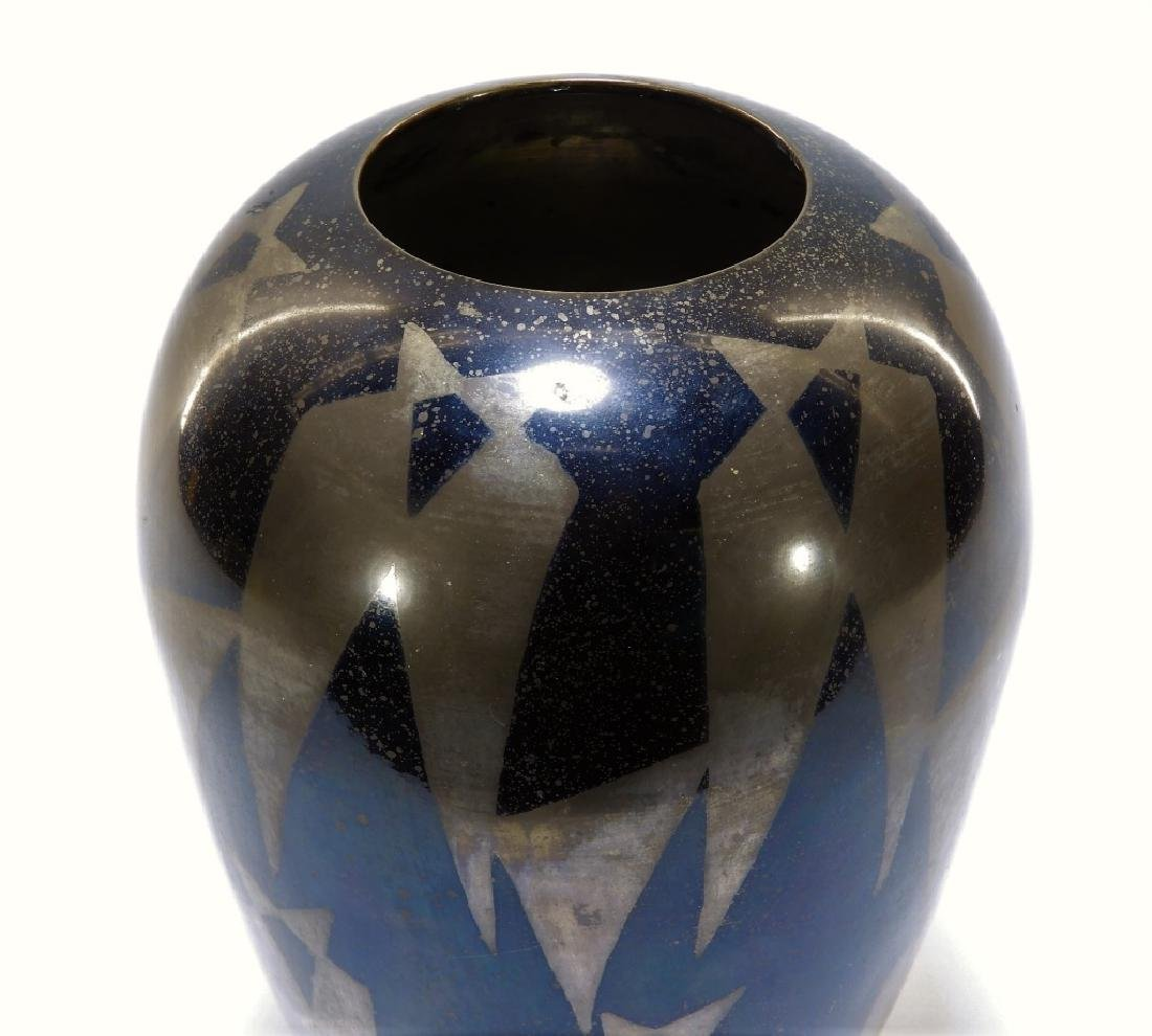 French Art Deco Dunand Style Lacquered Vase - 2