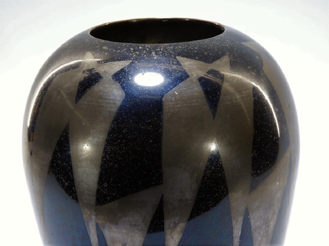 French Art Deco Dunand Style Lacquered Vase - 3