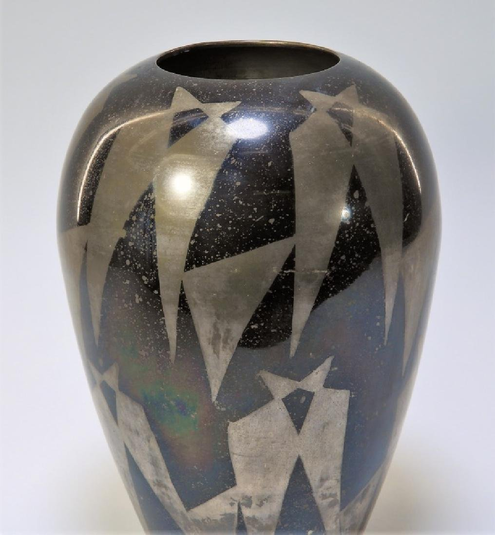 French Art Deco Dunand Style Lacquered Vase - 5