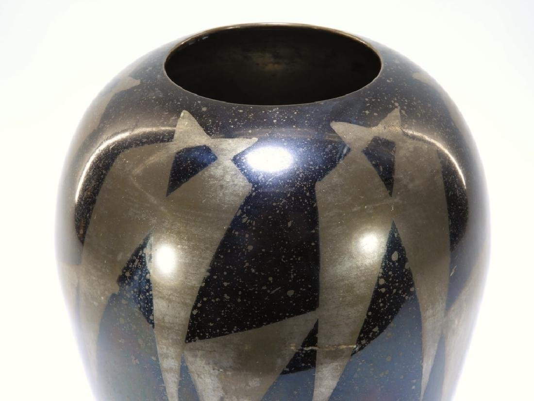French Art Deco Dunand Style Lacquered Vase - 6
