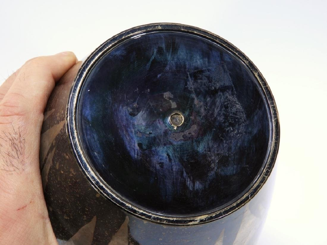 French Art Deco Dunand Style Lacquered Vase - 8