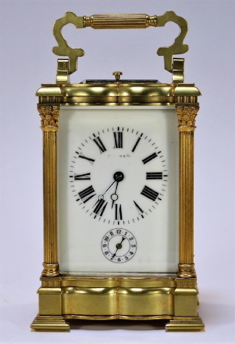 19C. Tiffany & Co. Bronze Repeater Carriage Clock