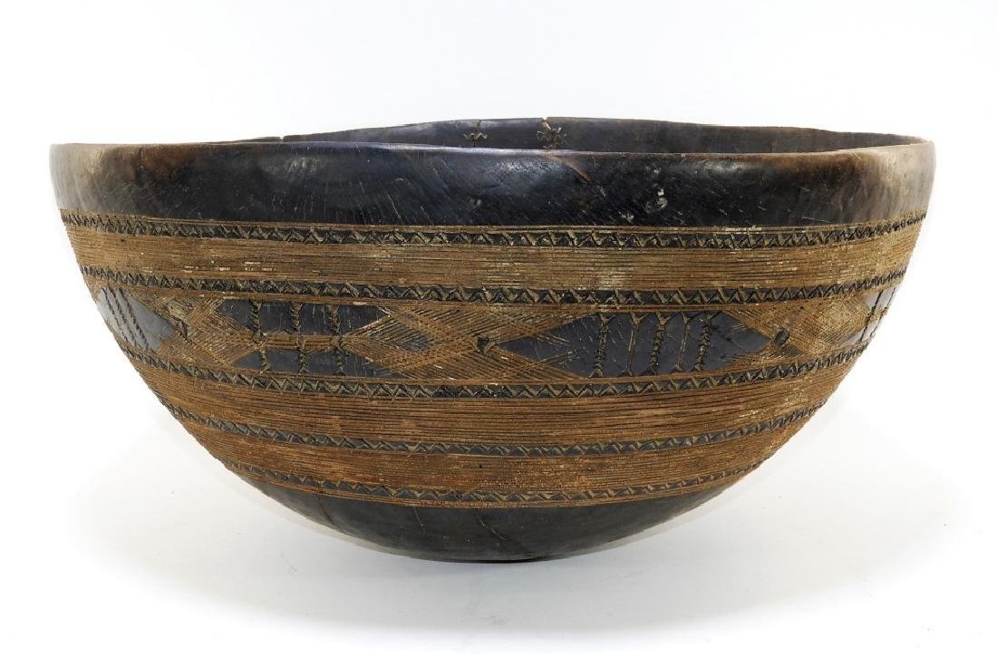 FINE Large African Taureg Burl Wood Milking Bowl