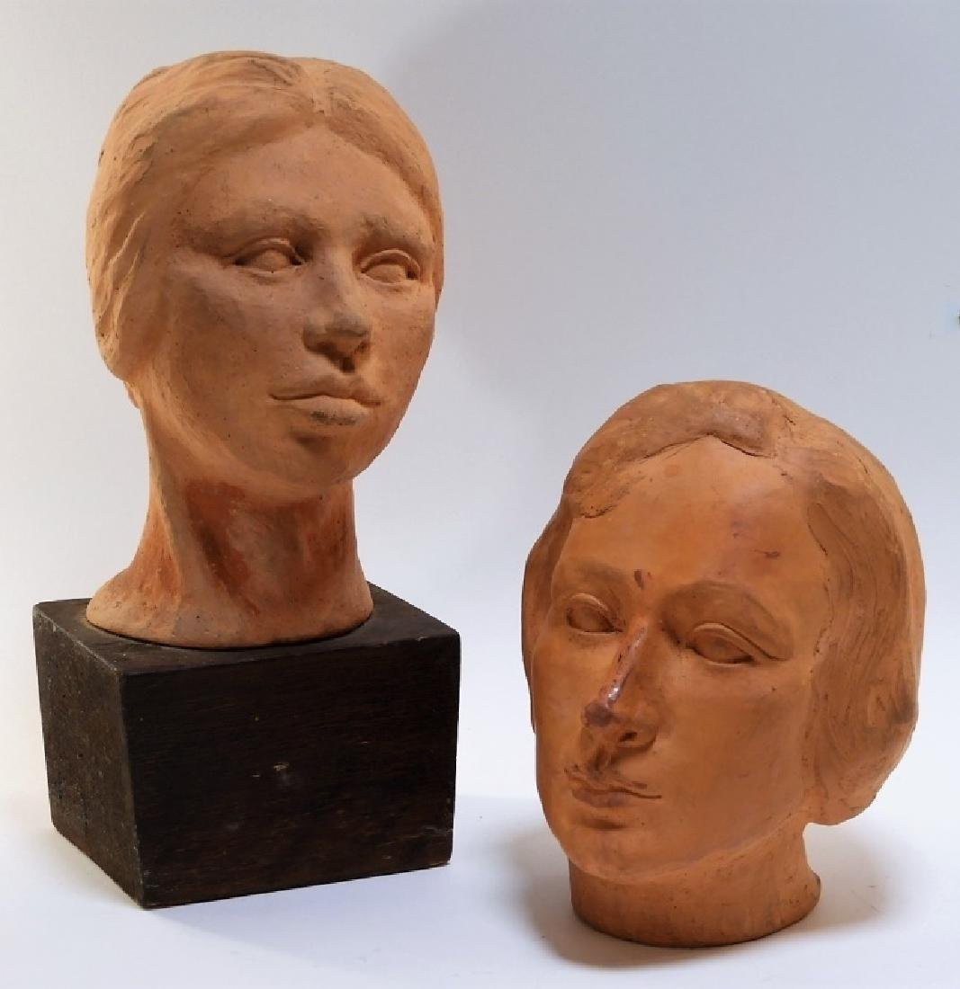 UNUSUAL MCM Terracotta Head Sculptures