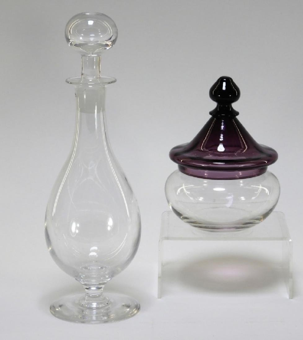 2PC Pairpoint Covered Candy Jar & Decanter