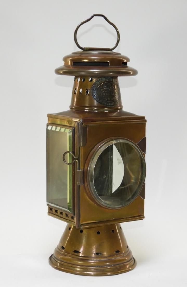 Merryweather & Son Copper Fire Engine Lantern