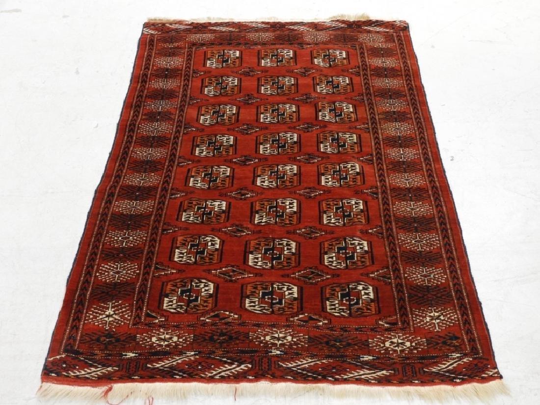 Oriental Bokhara Wool Carpet Rug