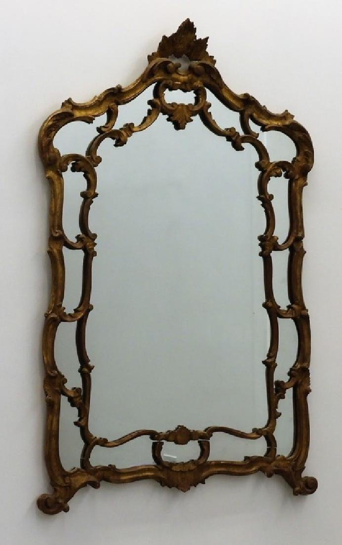 LARGE Italian Florentine Carved Wood Gesso Mirror