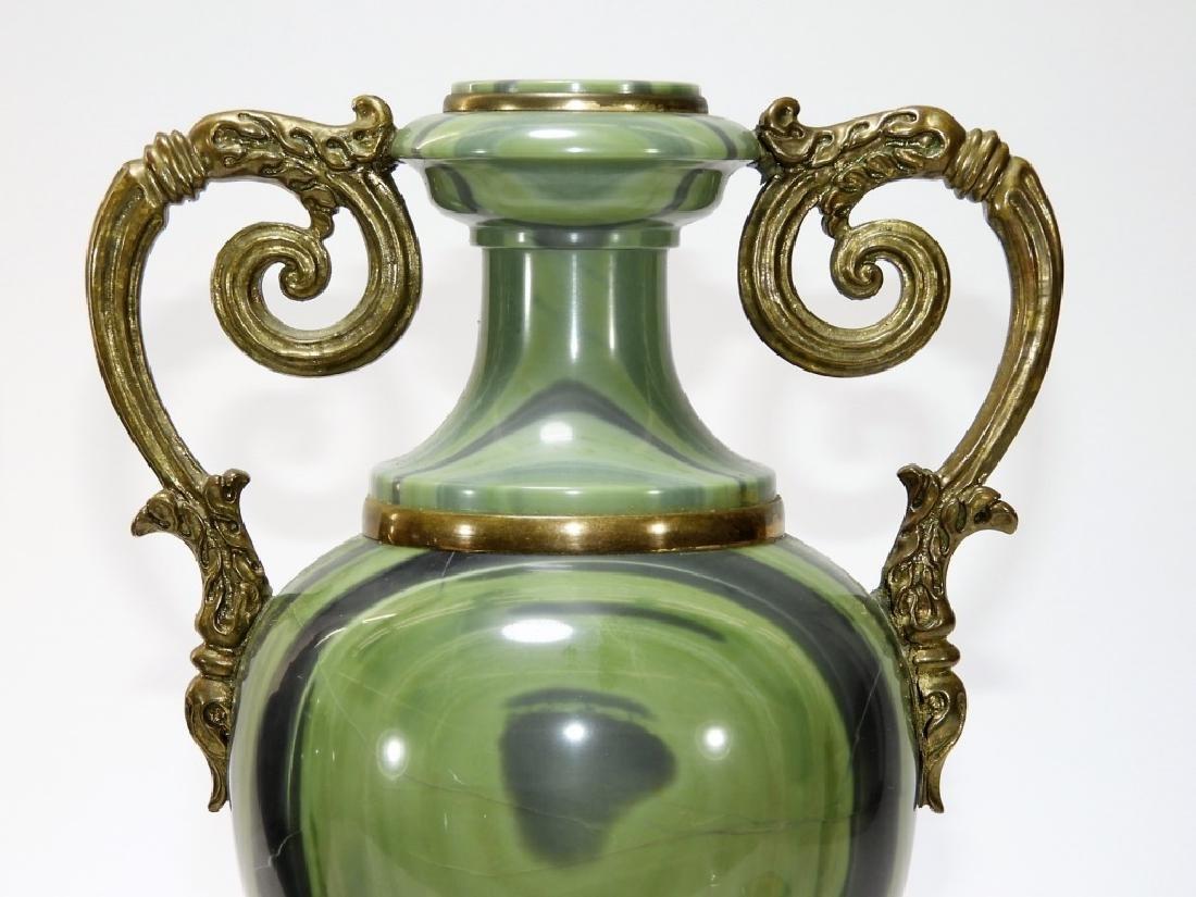 2 Russian Agate Bronze Mounted Specimen Stone Urns - 4