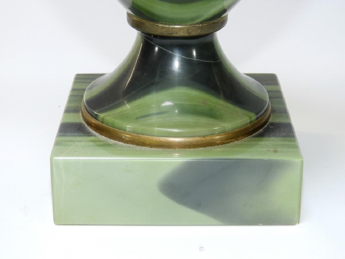2 Russian Agate Bronze Mounted Specimen Stone Urns - 7