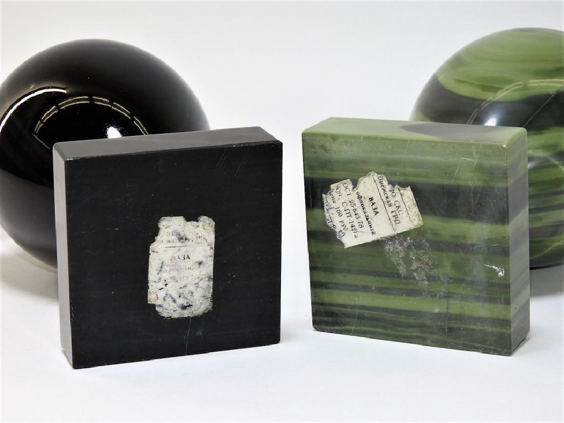 2 Russian Agate Bronze Mounted Specimen Stone Urns - 8
