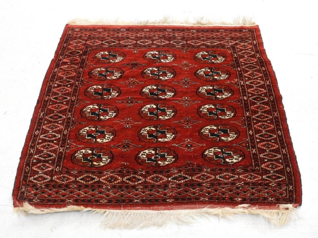 Persian Oriental Bokhara Wool Carpet Rug