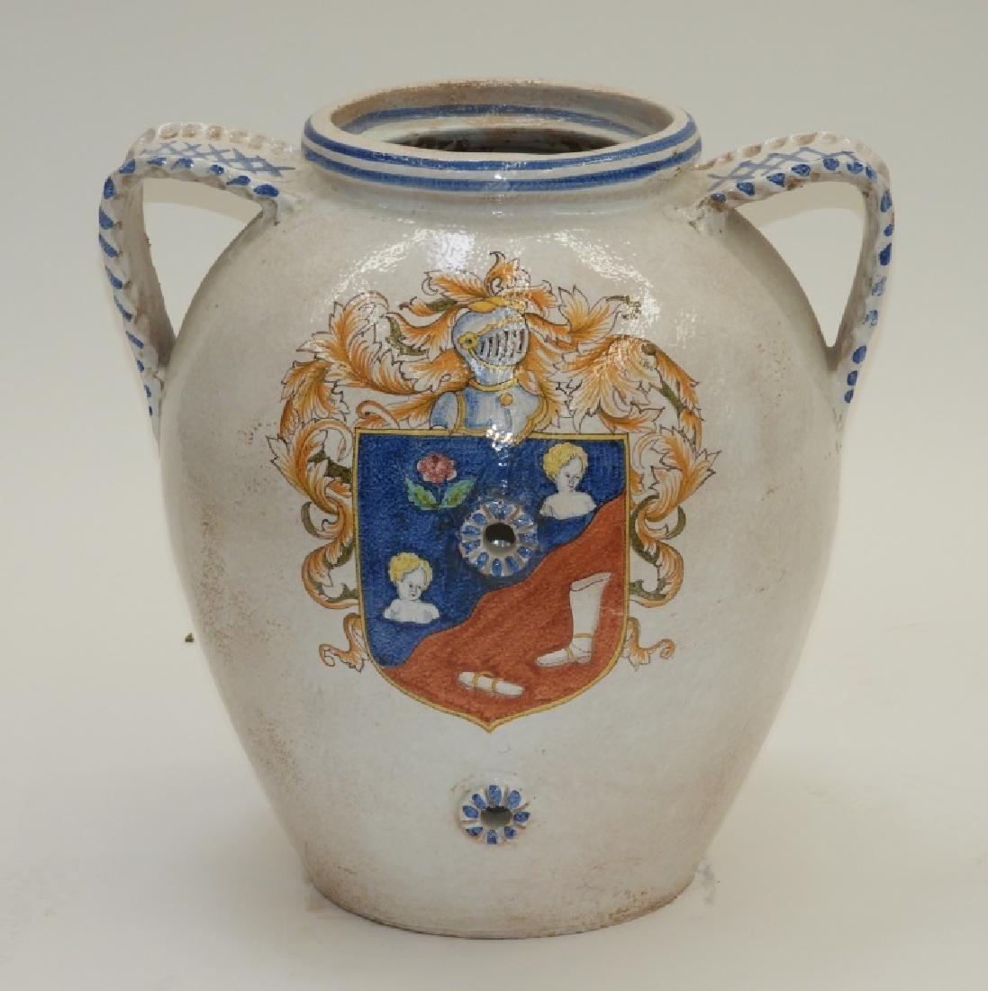 Italian Armorial Faience Majolica Pottery Vessel