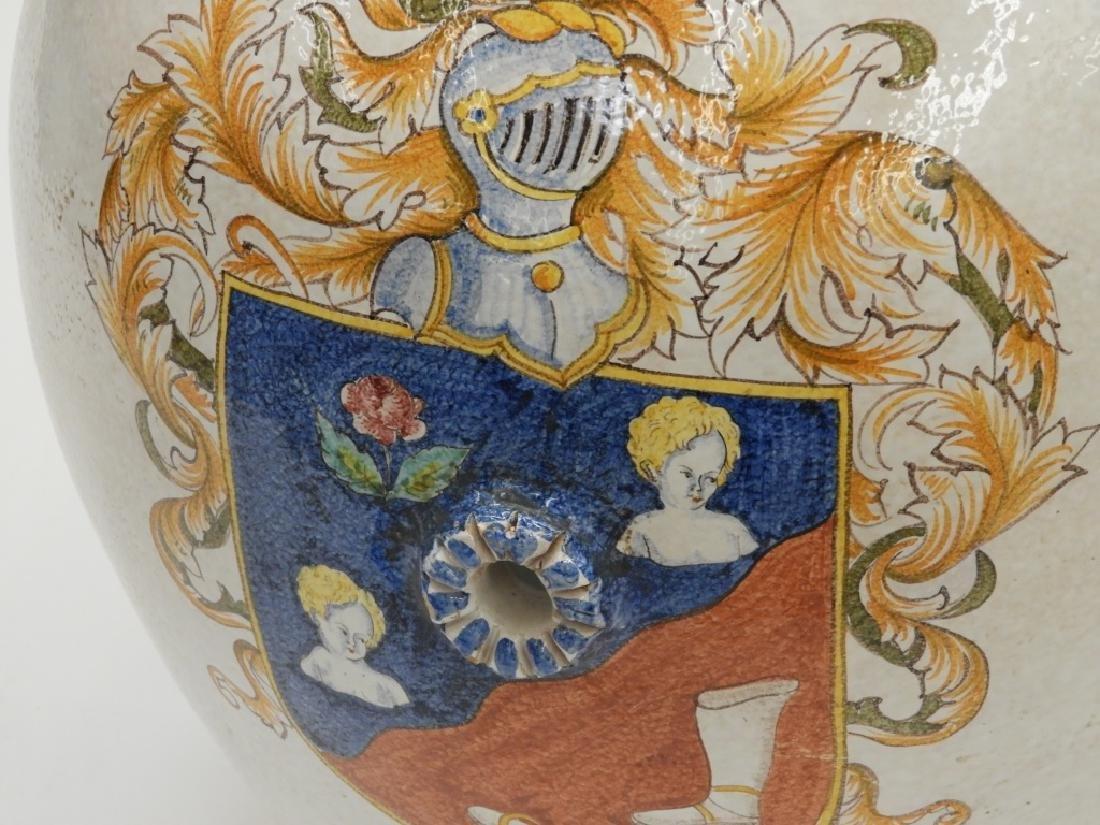 Italian Armorial Faience Majolica Pottery Vessel - 2
