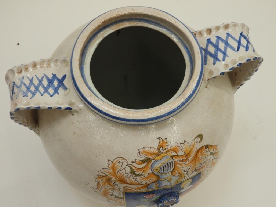 Italian Armorial Faience Majolica Pottery Vessel - 3