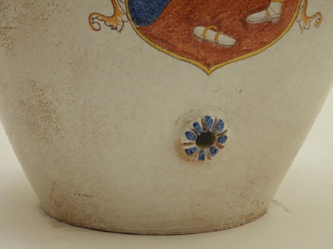 Italian Armorial Faience Majolica Pottery Vessel - 5