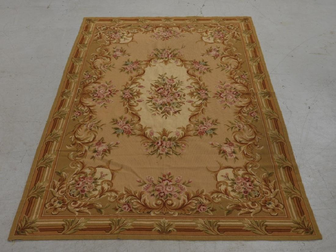 French Floral Aubusson Tapestry
