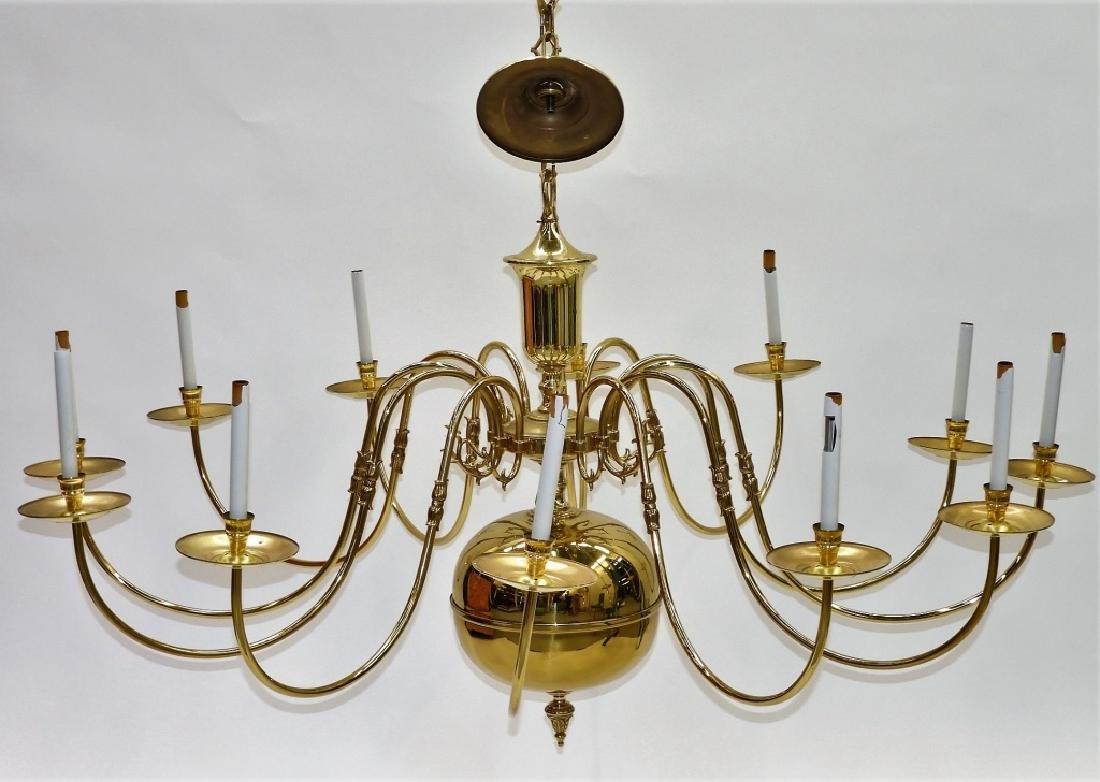 LG American Brass Federalist 12 Arm Chandelier