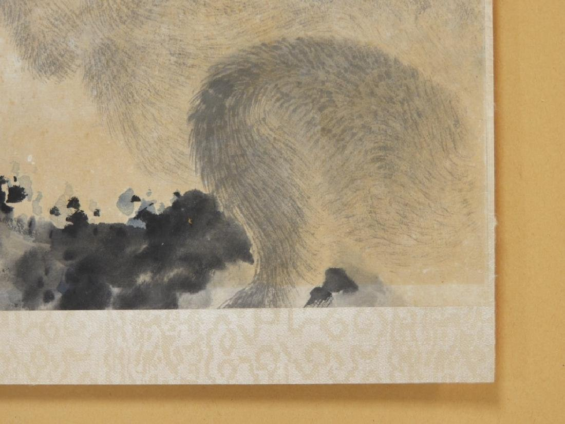 Chinese Calligraphic WC Painting of Two Monkeys - 7