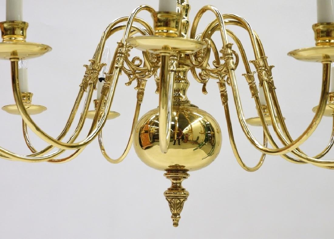 PR American Brass Federalist 12 Arm Chandelier - 4