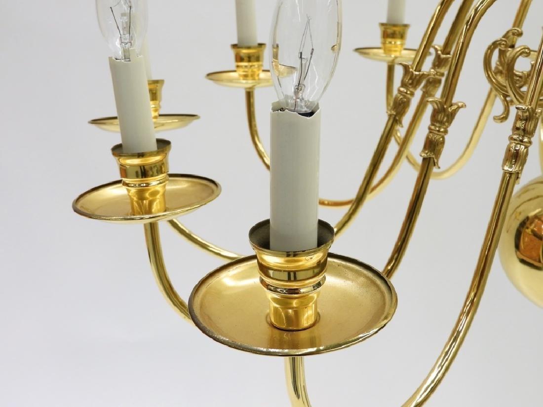 PR American Brass Federalist 12 Arm Chandelier - 7