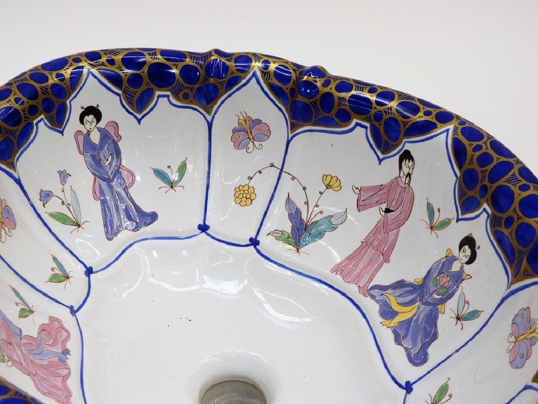 Sherle Wagner Chinoiserie Porcelain Sink Basin - 4