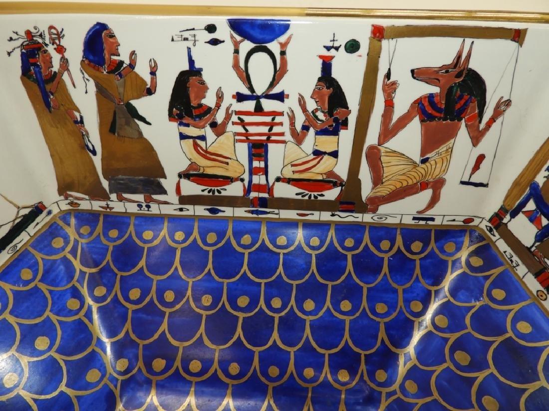 Sherle Wagner Egyptian Hieroglyph Porcelain Sink - 4
