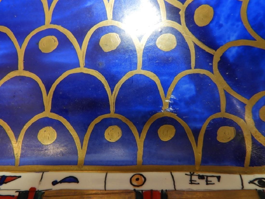 Sherle Wagner Egyptian Hieroglyph Porcelain Sink - 6