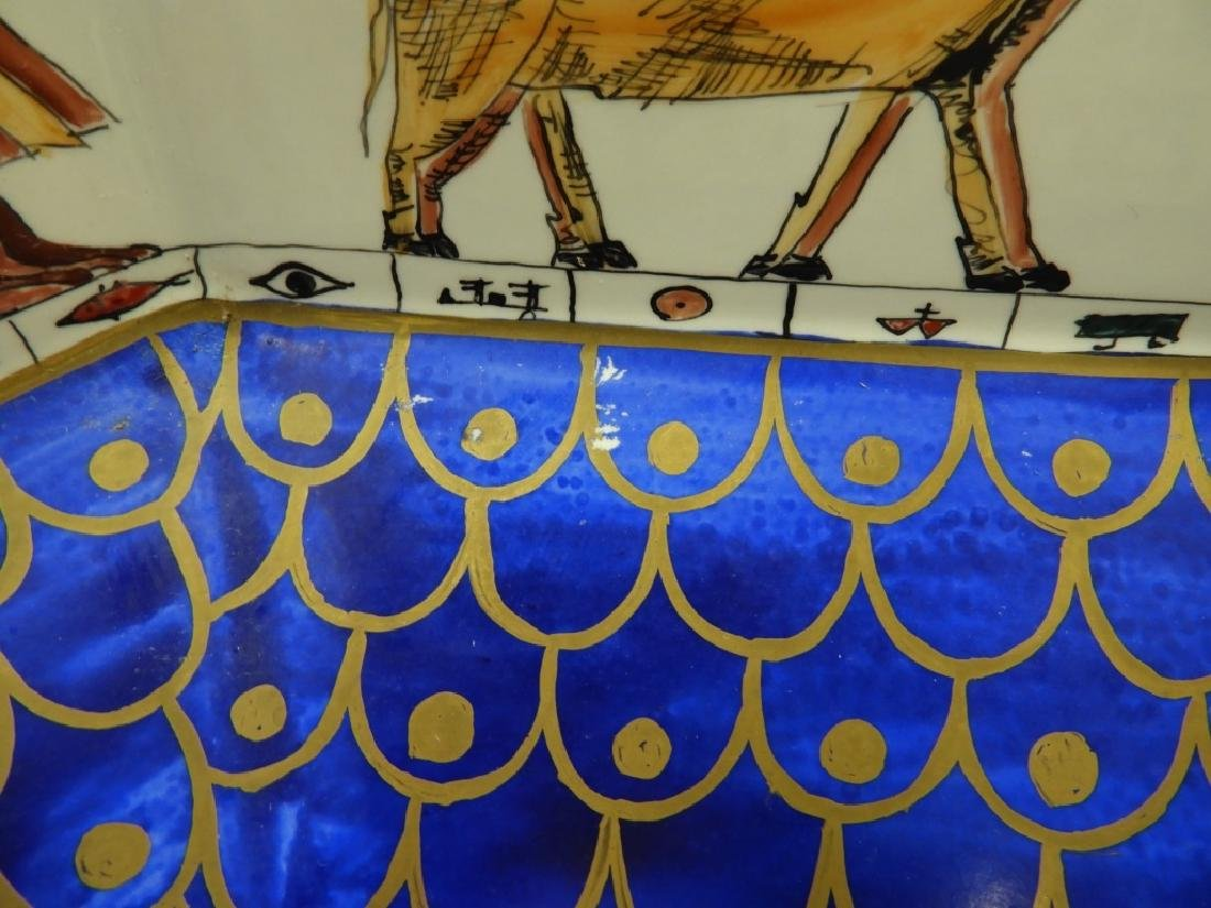 Sherle Wagner Egyptian Hieroglyph Porcelain Sink - 7