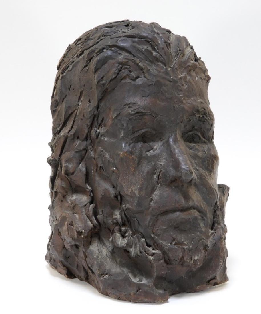 Life Size Pottery Sculpture Bust of a Quaker Man