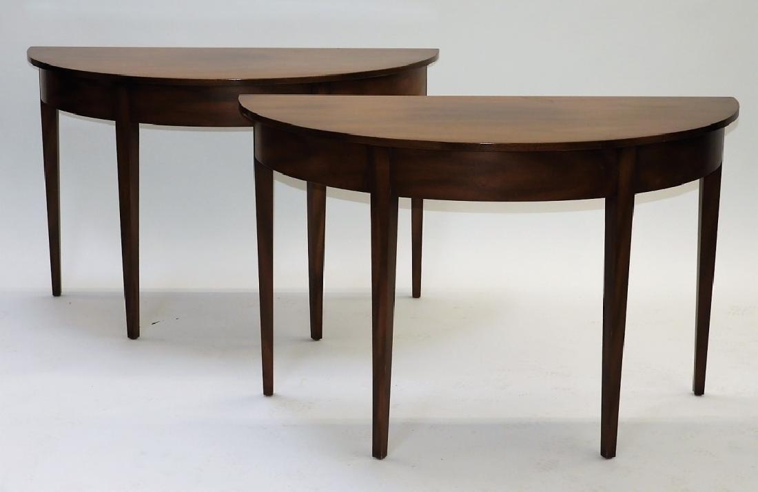 PR Kittenger Williamsburg Mahogany Demilune Tables