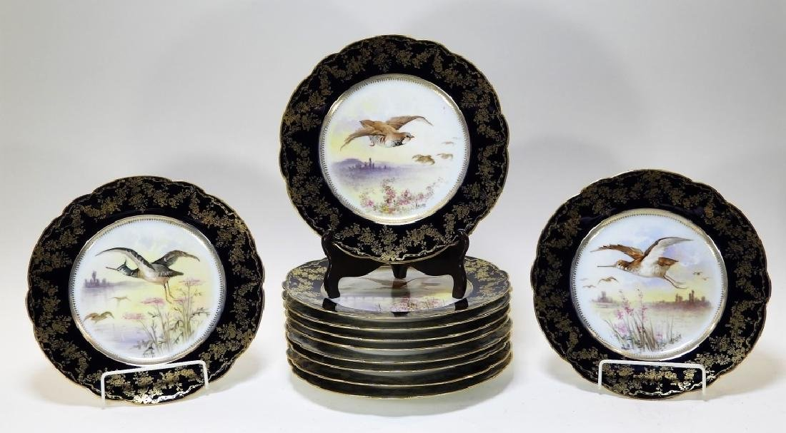 11 French D&C Limoges Porcelain Game Bird Plates