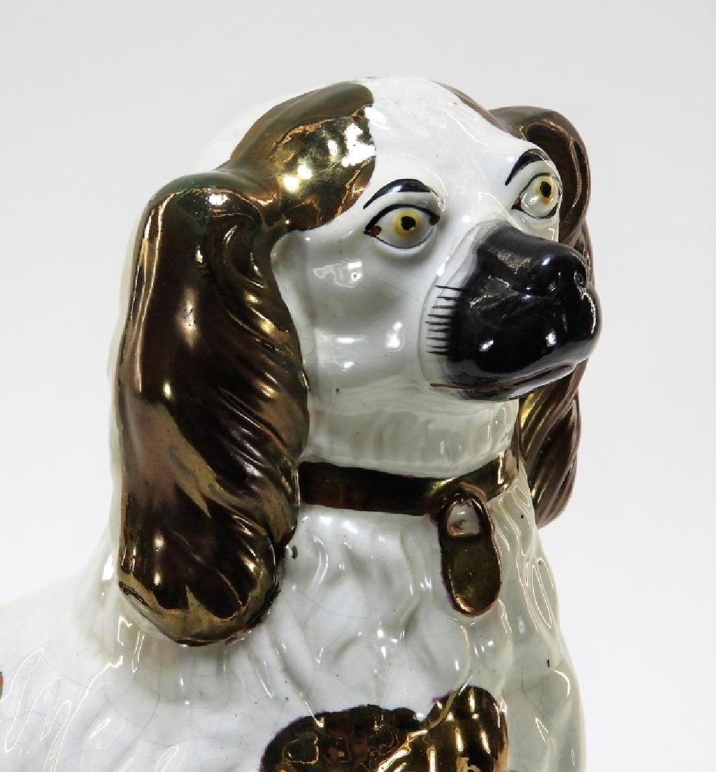 LG Staffordshire Copper Luster Pearlware Dog - 2