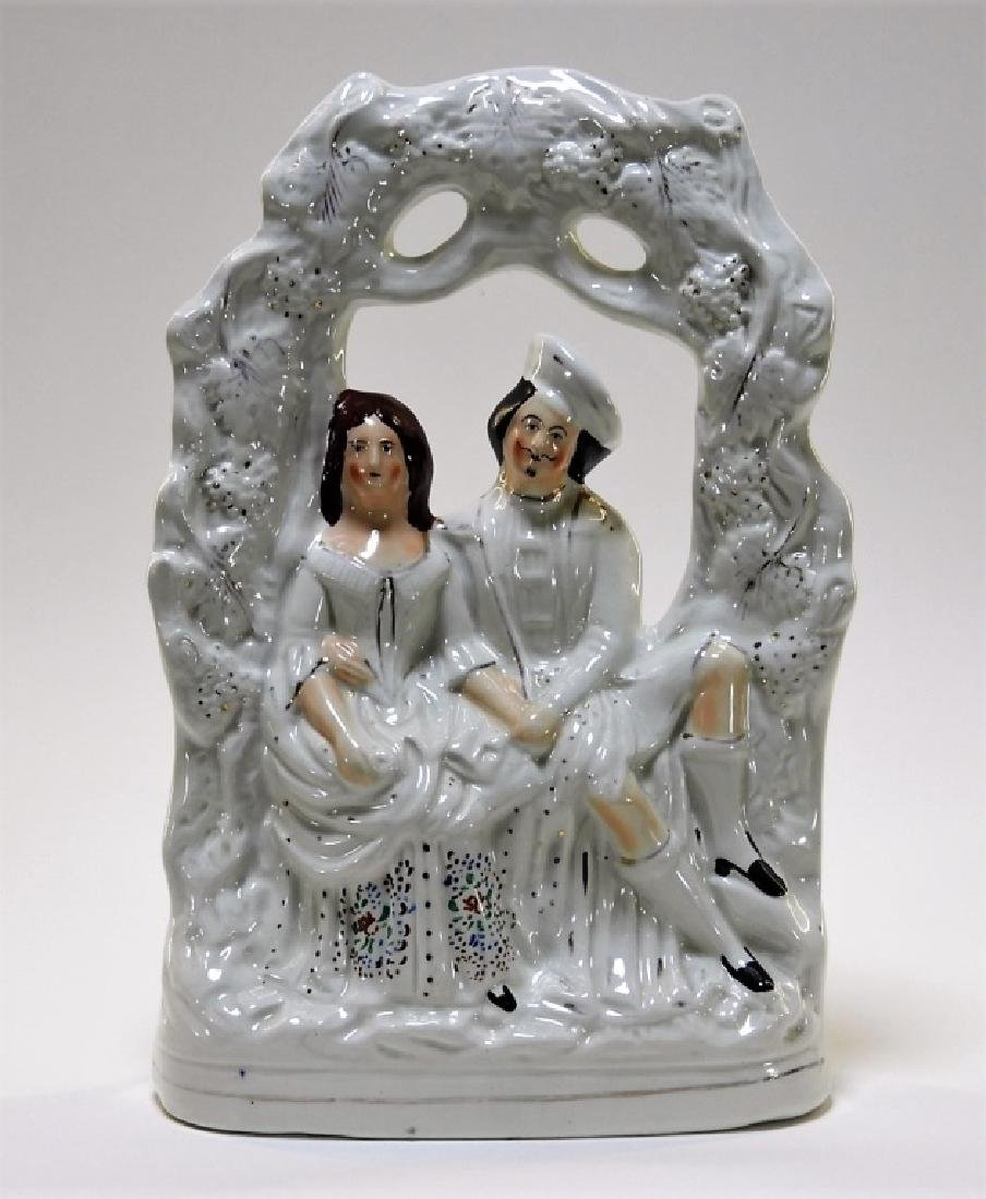 19C. English Staffordshire Pearlware Figure Group