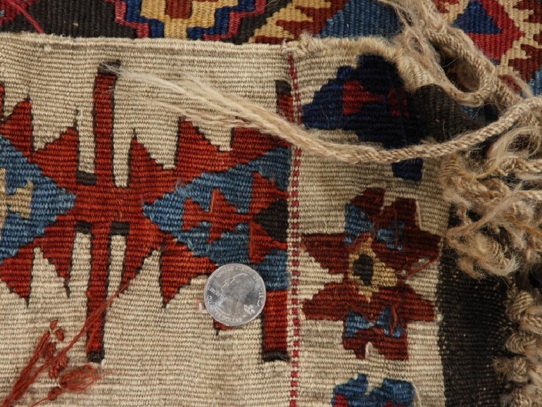 PR Afghan Kilim Wool Flat Weave Panel Rugs - 10