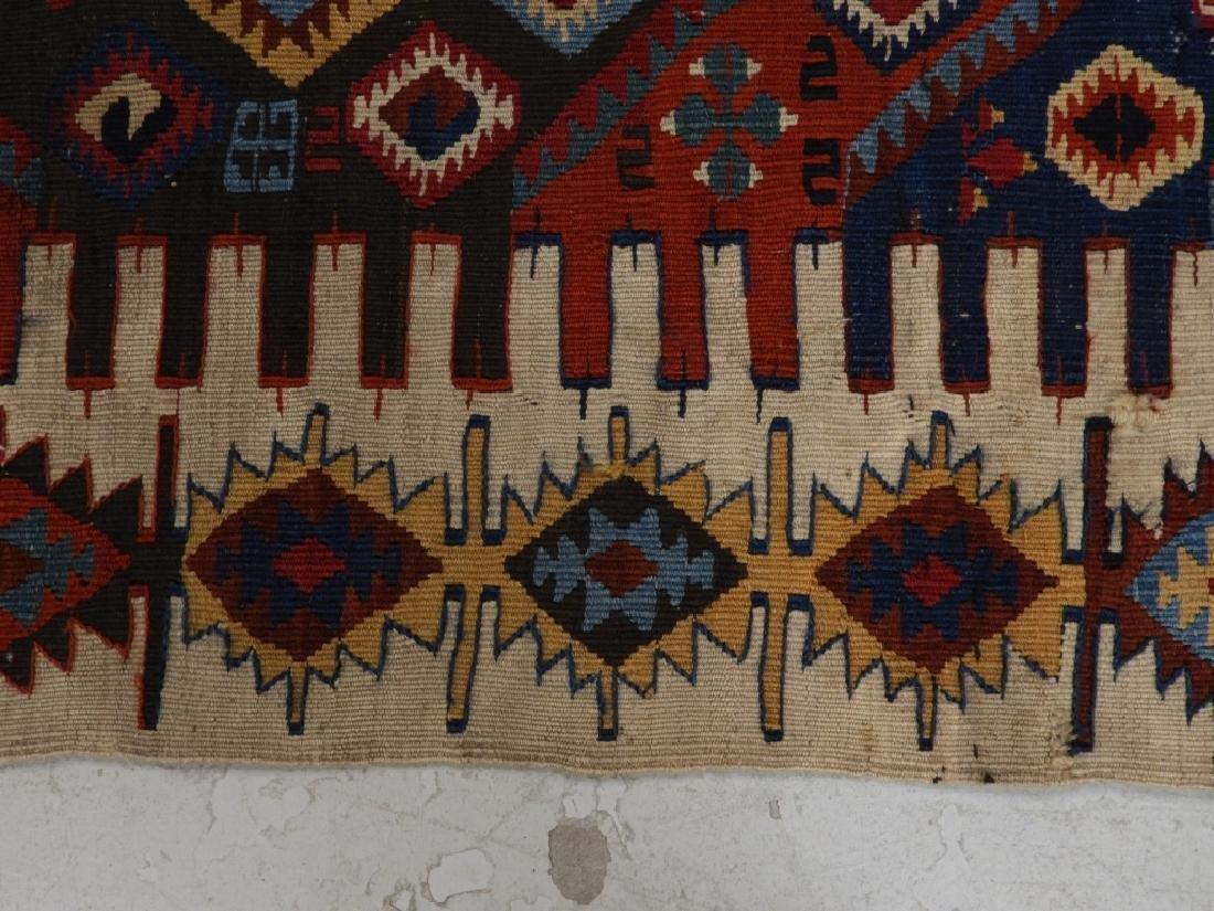 PR Afghan Kilim Wool Flat Weave Panel Rugs - 11