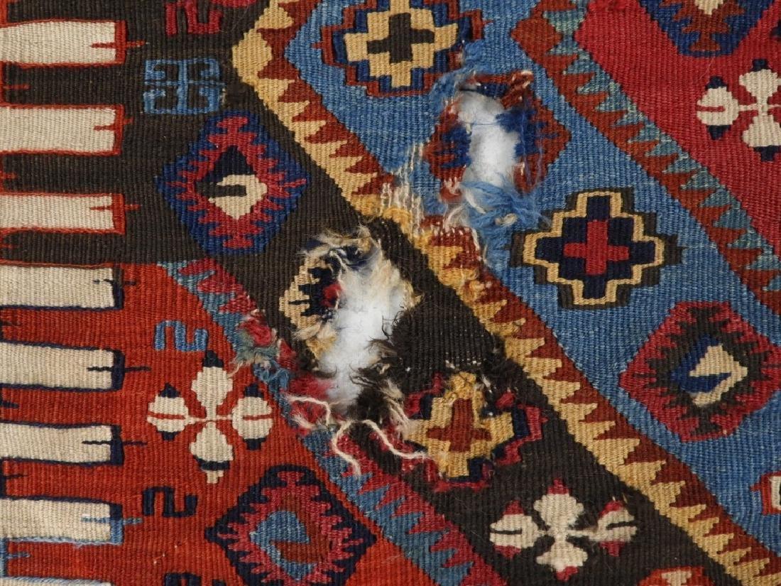PR Afghan Kilim Wool Flat Weave Panel Rugs - 5