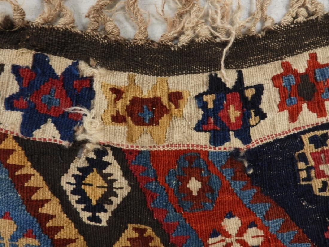 PR Afghan Kilim Wool Flat Weave Panel Rugs - 9