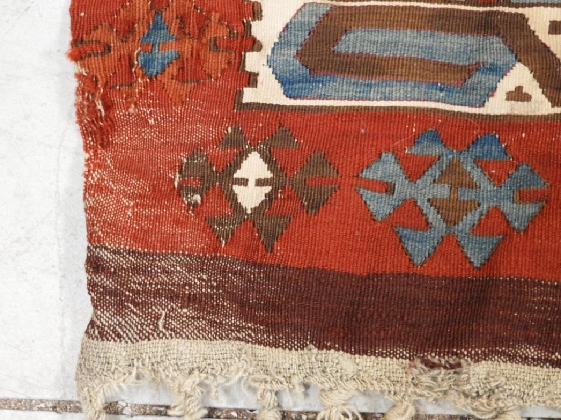 PR Afghan Kilim Wool Flat Weave Panel Rugs - 4