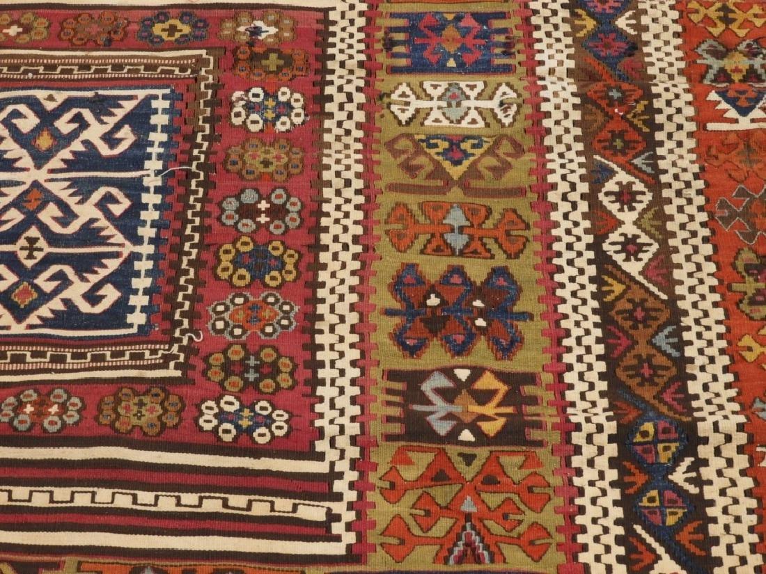PR Afghan Kilim Wool Flat Weave Panel Rugs - 6