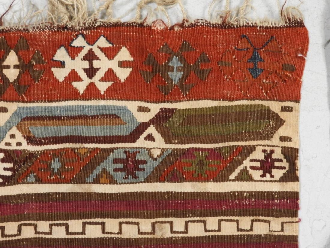 PR Afghan Kilim Wool Flat Weave Panel Rugs - 7