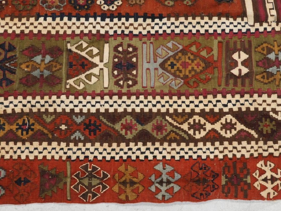 PR Afghan Kilim Wool Flat Weave Panel Rugs - 8