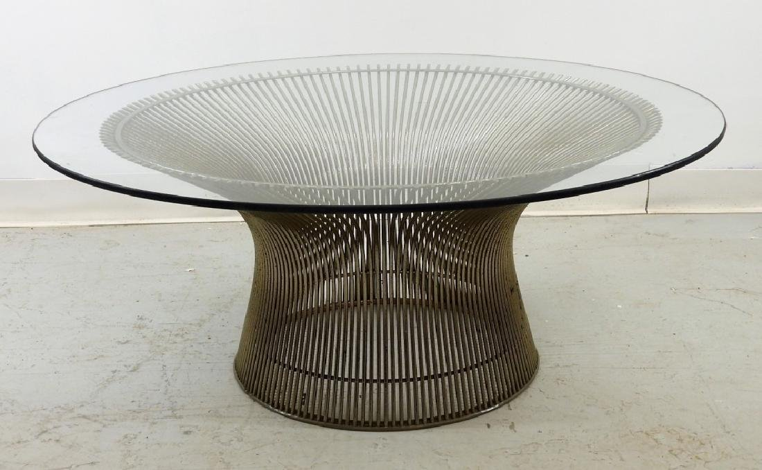 Warren Platner Steel Glass Coffee Table for Knoll