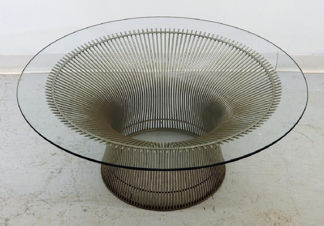 Warren Platner Steel Glass Coffee Table for Knoll - 2