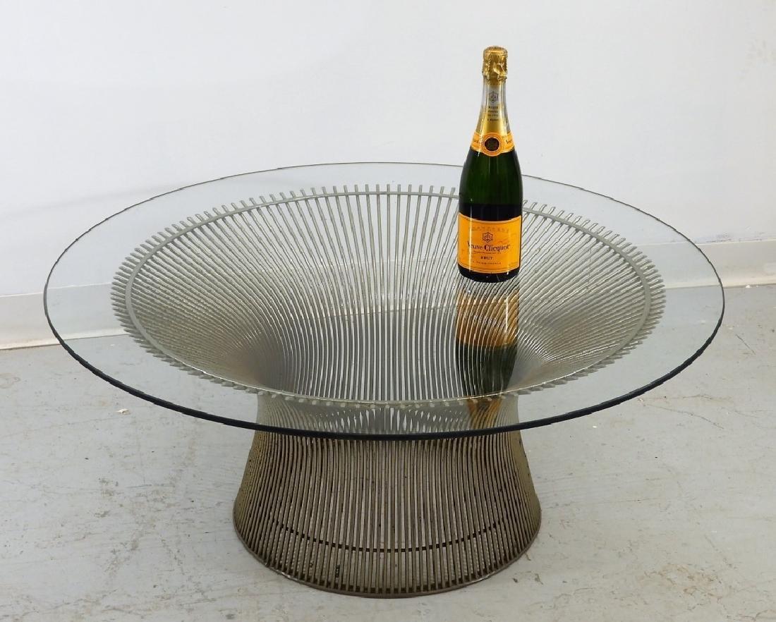 Warren Platner Steel Glass Coffee Table for Knoll - 8