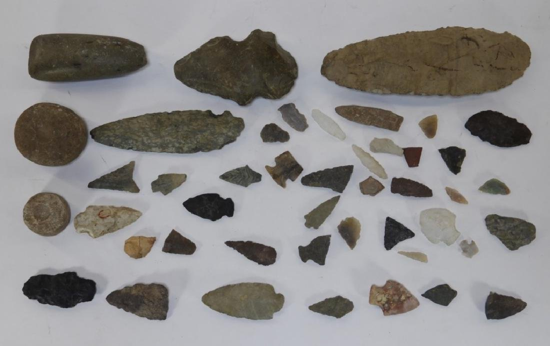 Group of Native North American Arrowheads & Axe