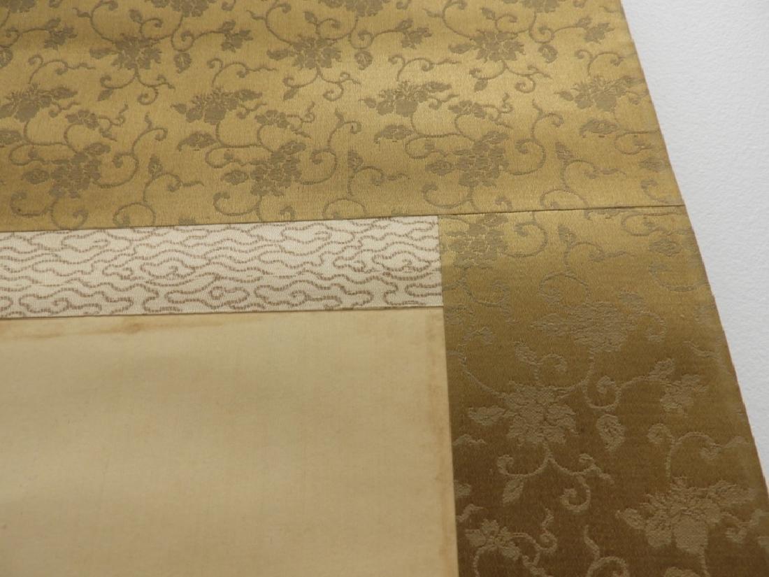 Japanese Samurai on Horseback Silk Scroll Painting - 8